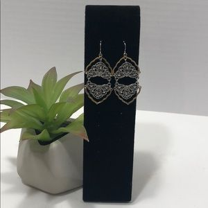 Silver and Gold toned earrings
